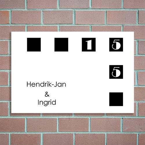 naambord online maken