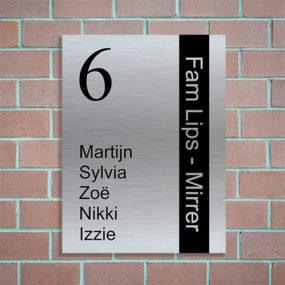 eigen naambordje aan de voordeur ontwerpen