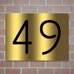huisnummerbordje personaliseren