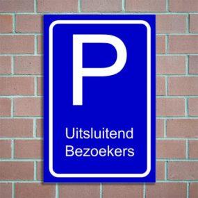 bordje parkeren bezoekers